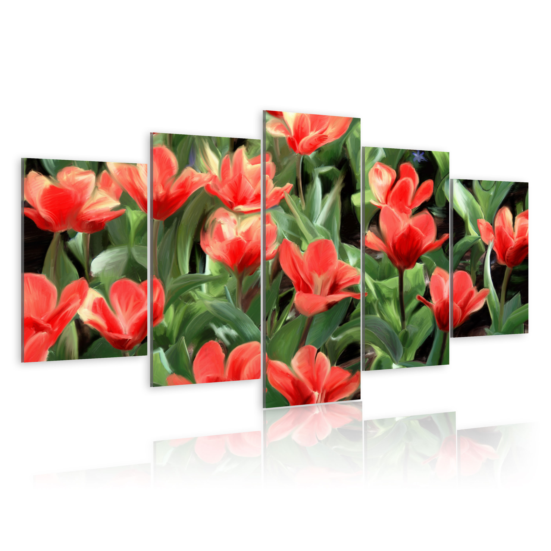 Tableau - Parterre de fleurs