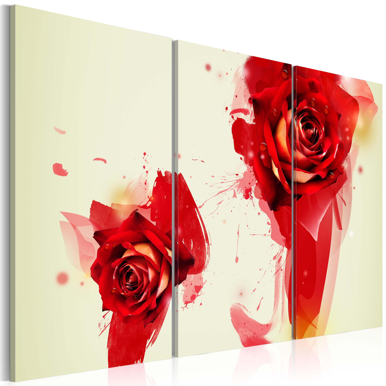 Tableau - Regard sur la rose