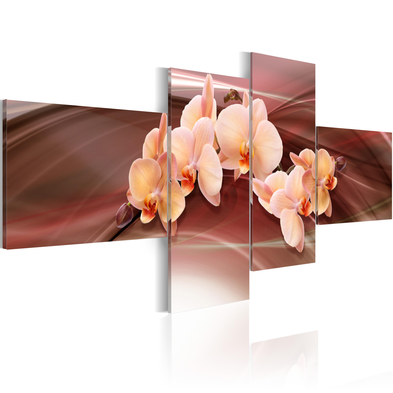 Tableau - Orchidée rose
