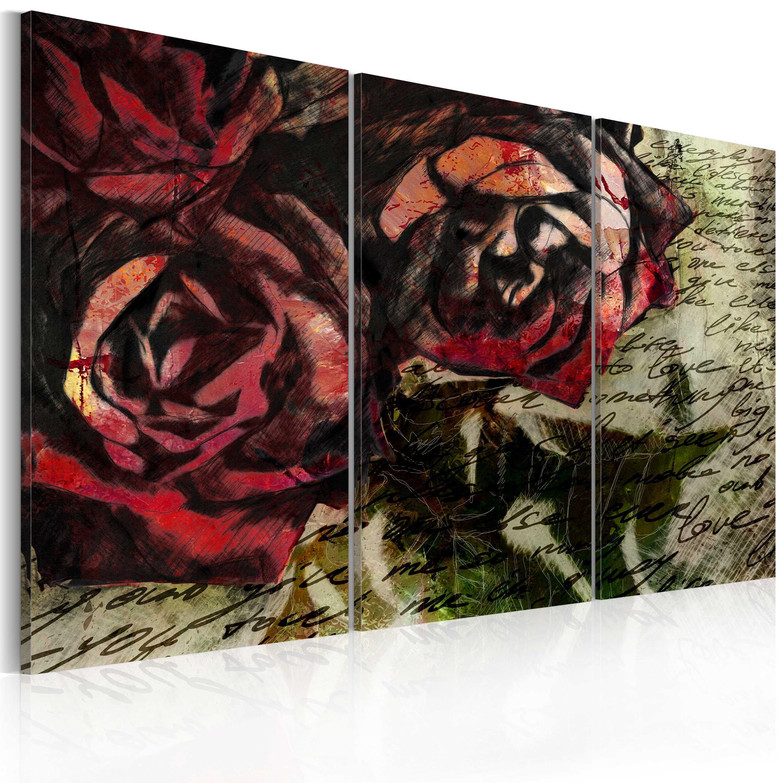 Tableau - Love letter - triptych