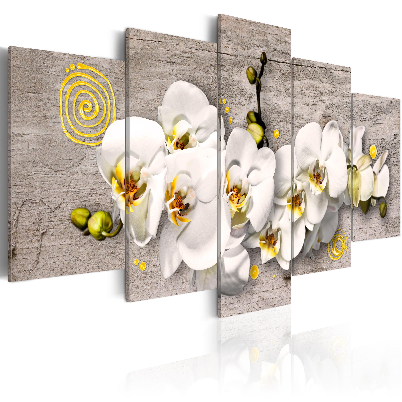 Tableau - Sunny orchids - 5 pieces