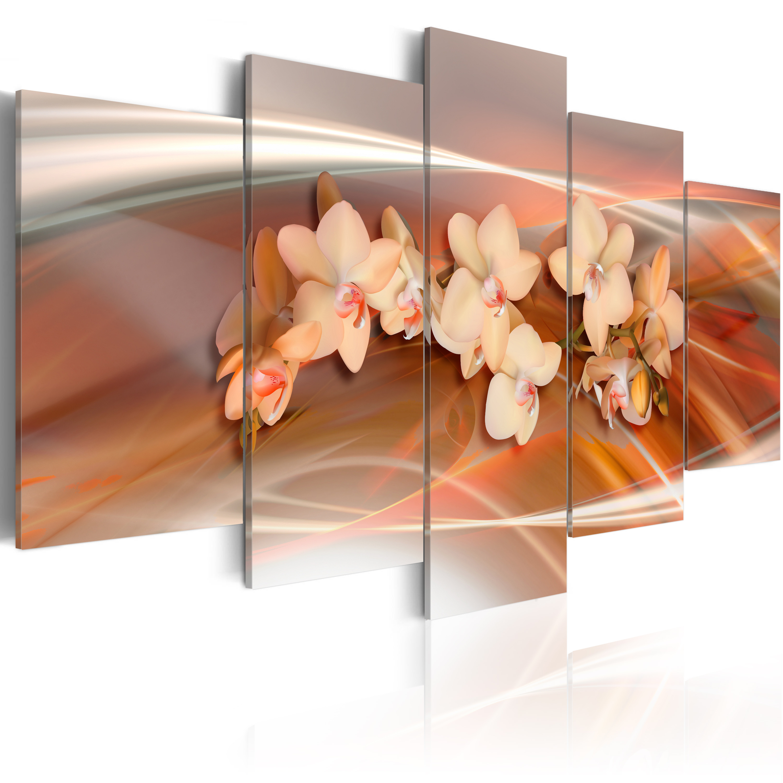Tableau - Orchidée avec des nuances gris