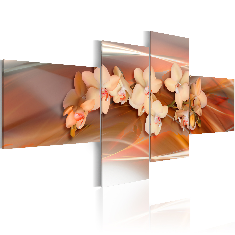 Tableau - Orchidée blanche sur le fond d'automne