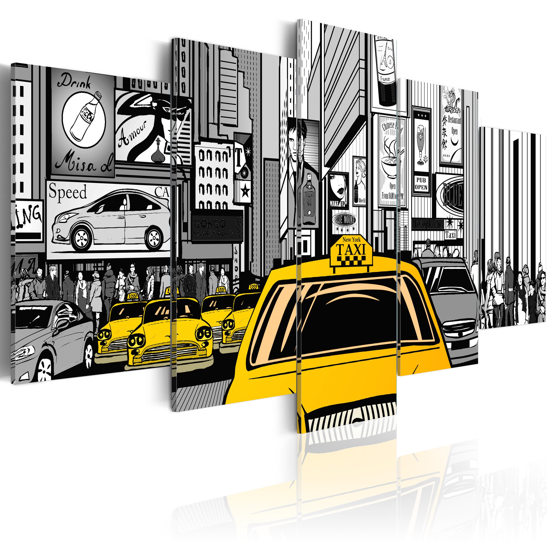 Tableau - Taxi de dessin animé