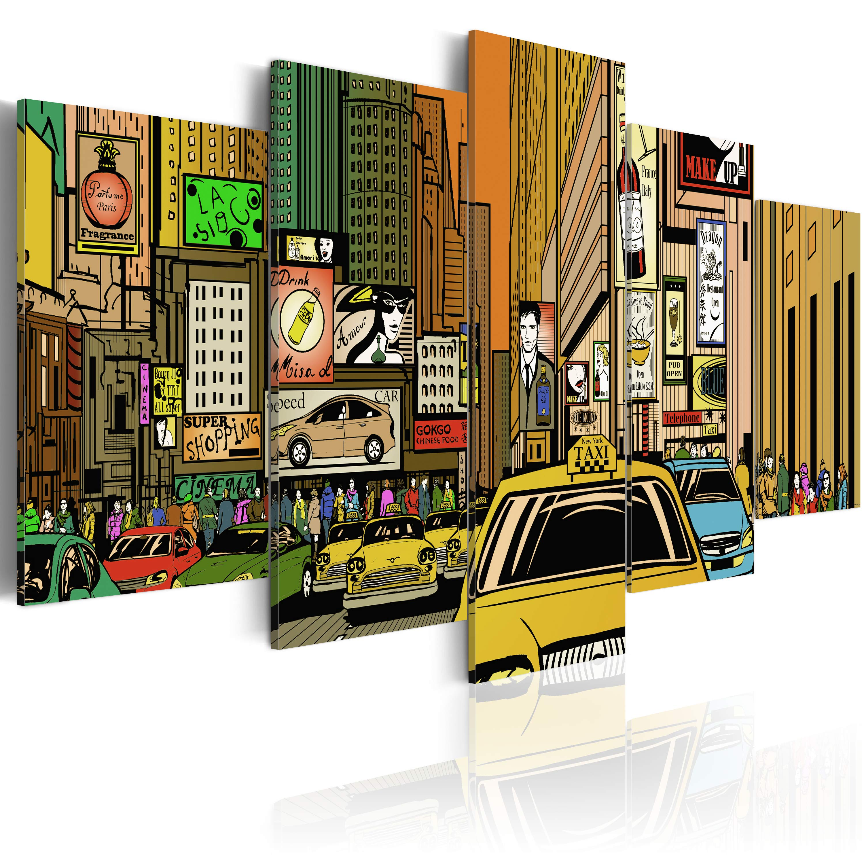 Tableau - Rues de New York dans la B. D.