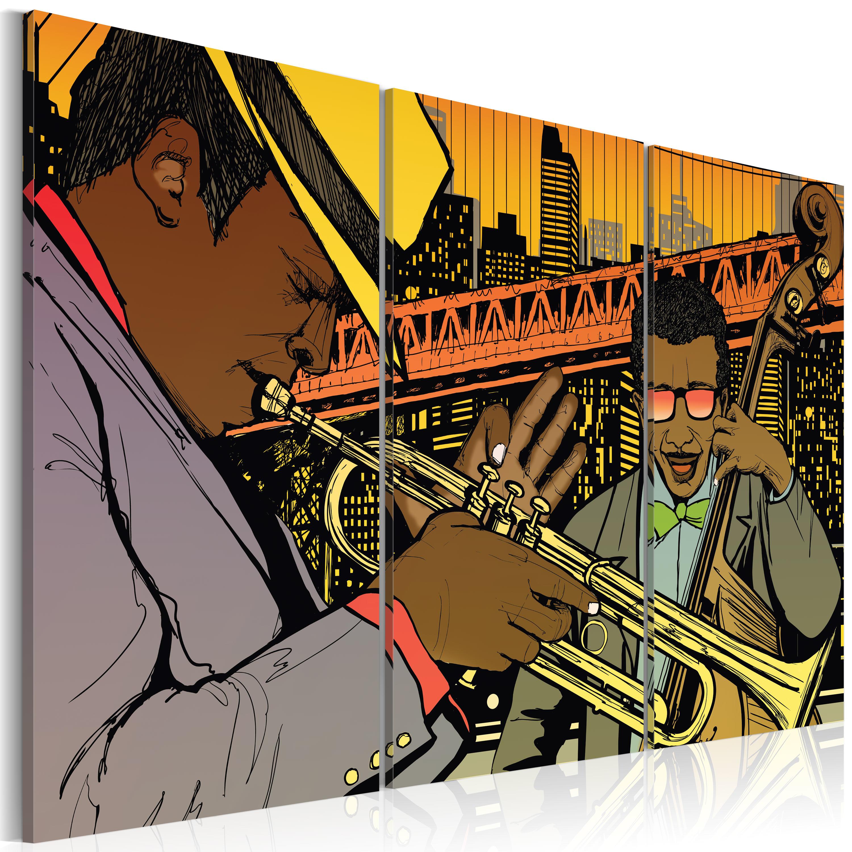 Tableau - Musicien de jazz