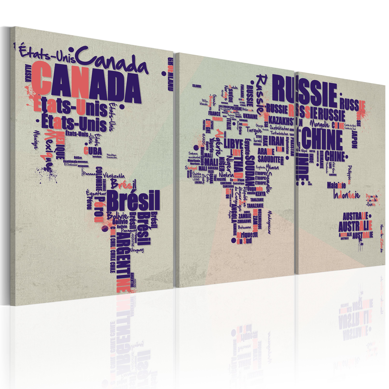 Tableau - carte - en français