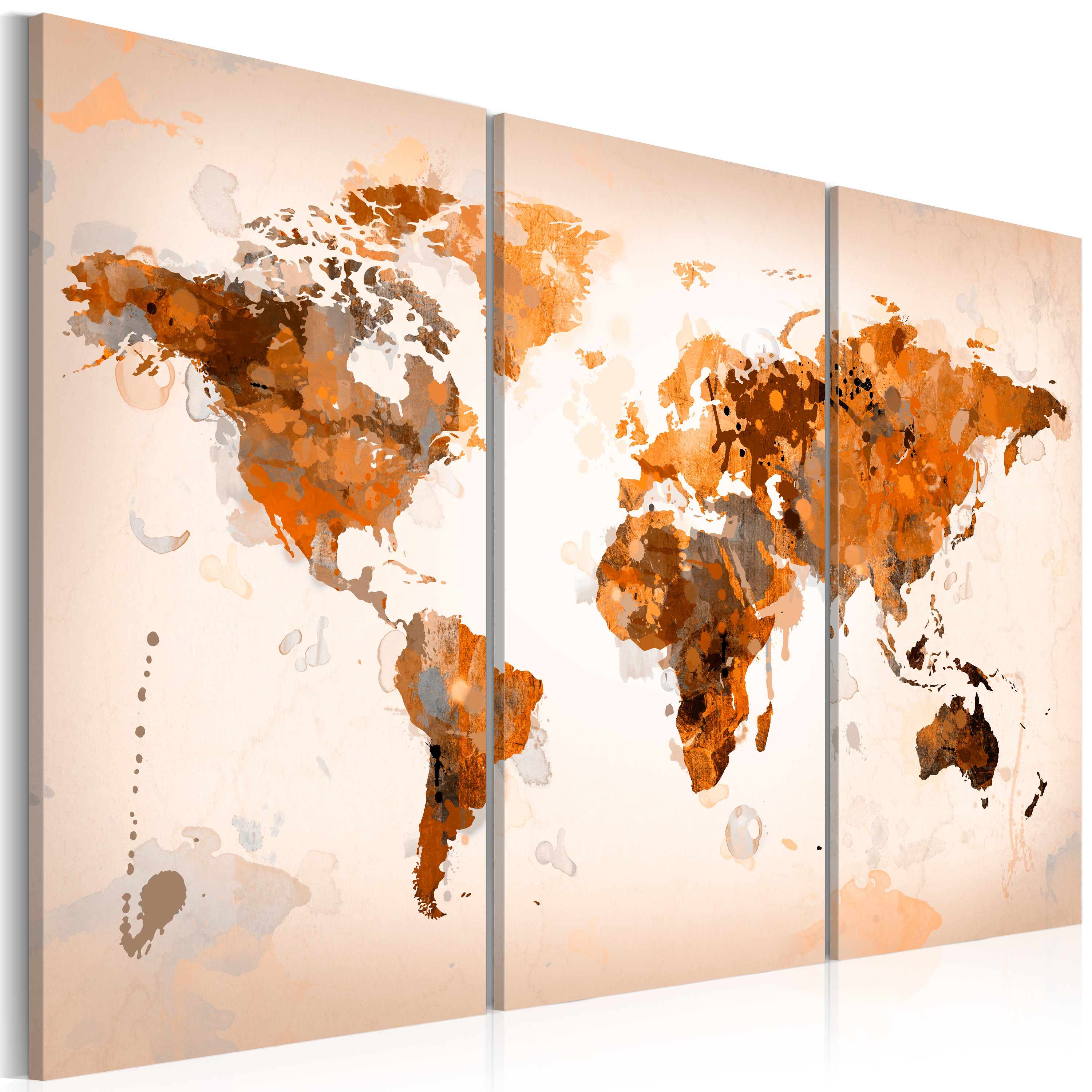 Tableau - Map of the World - Desert storm - triptych