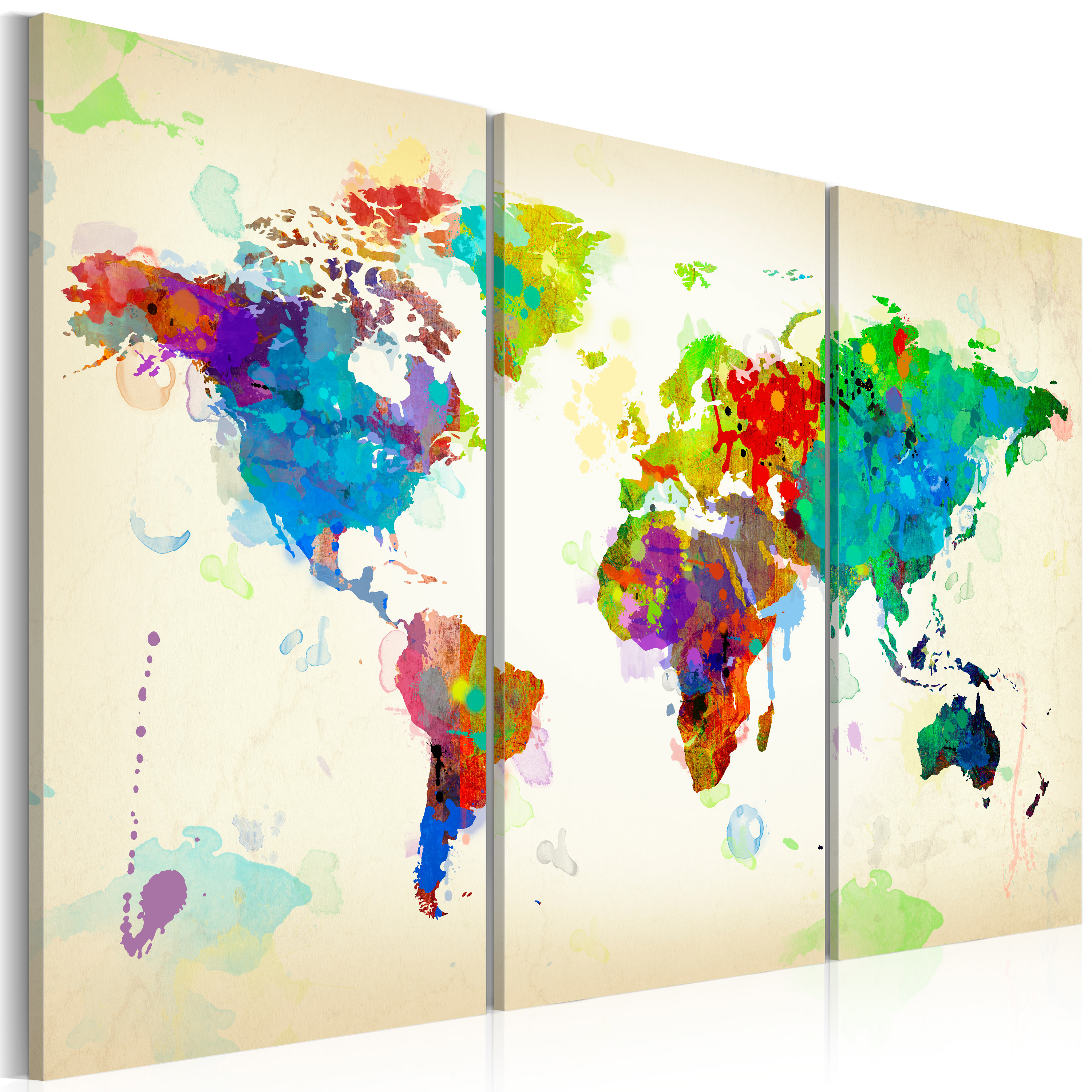 Tableau - All colors of the World - triptych