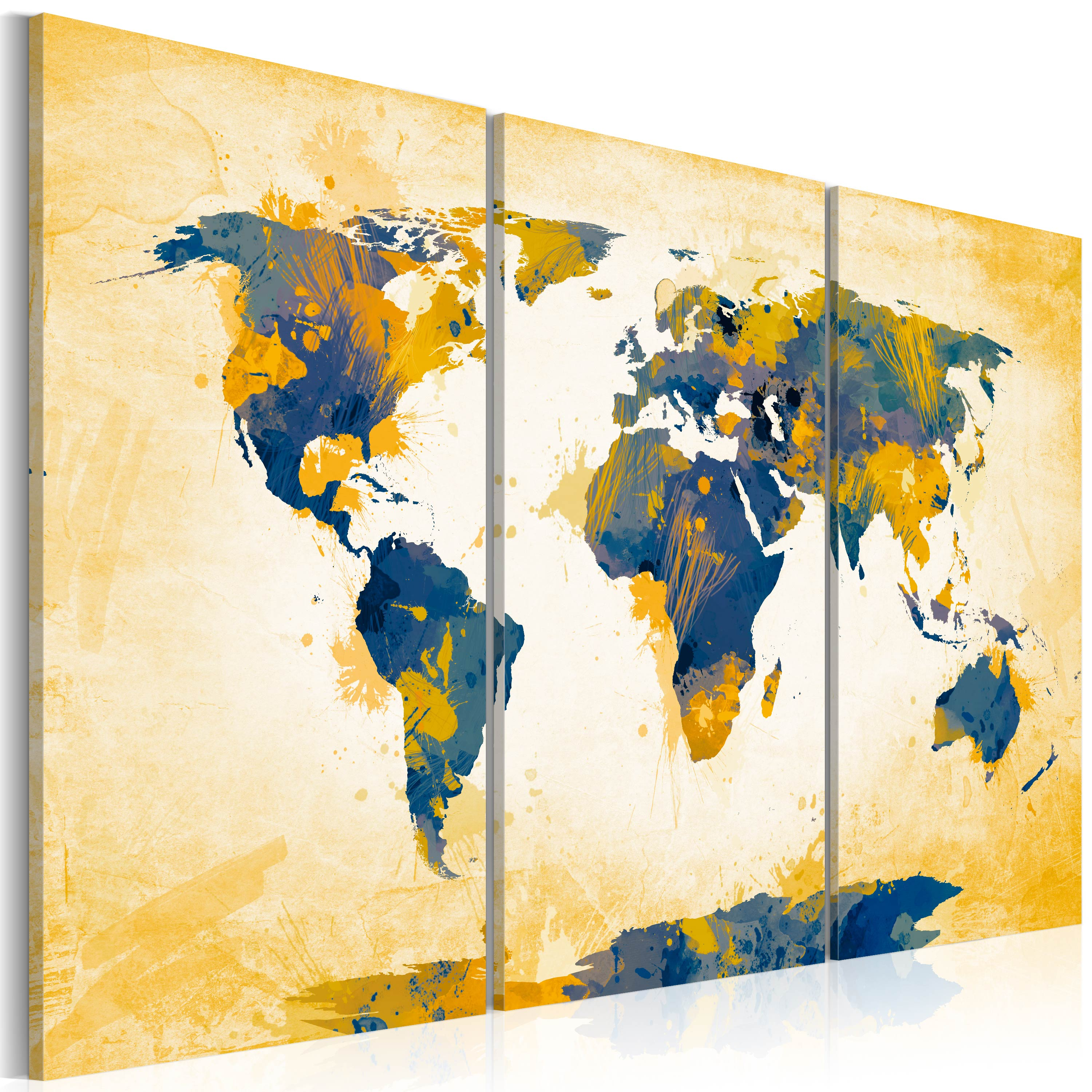 Tableau - Four corners of the World - triptych
