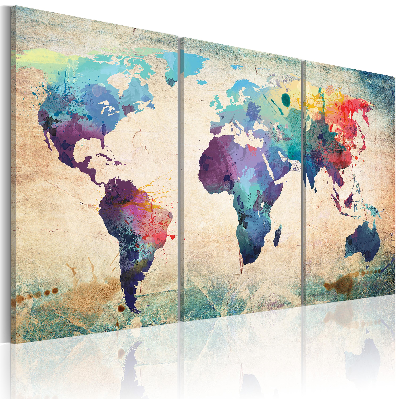 Tableau - Le monde peint à l'aquarelle