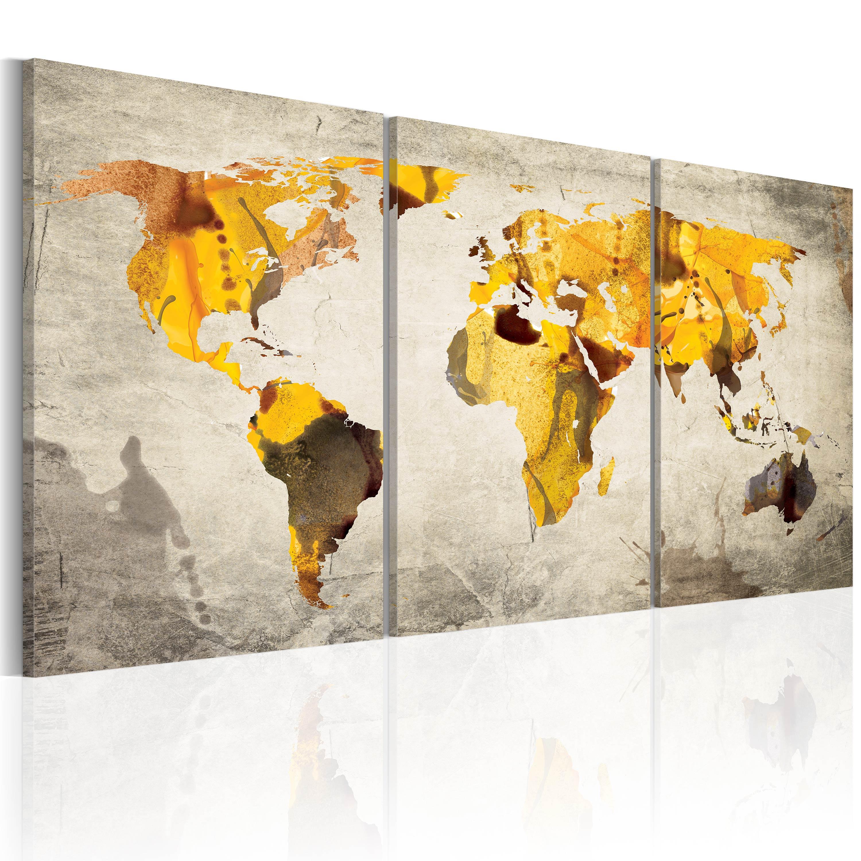 Tableau - Continents jaunes
