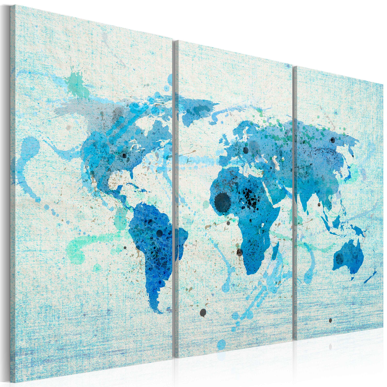 Tableau - Terres et océans - triptyque