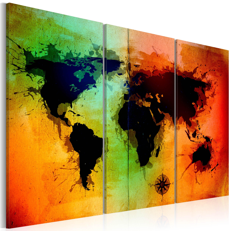 Tableau - Terres noires - triptyque