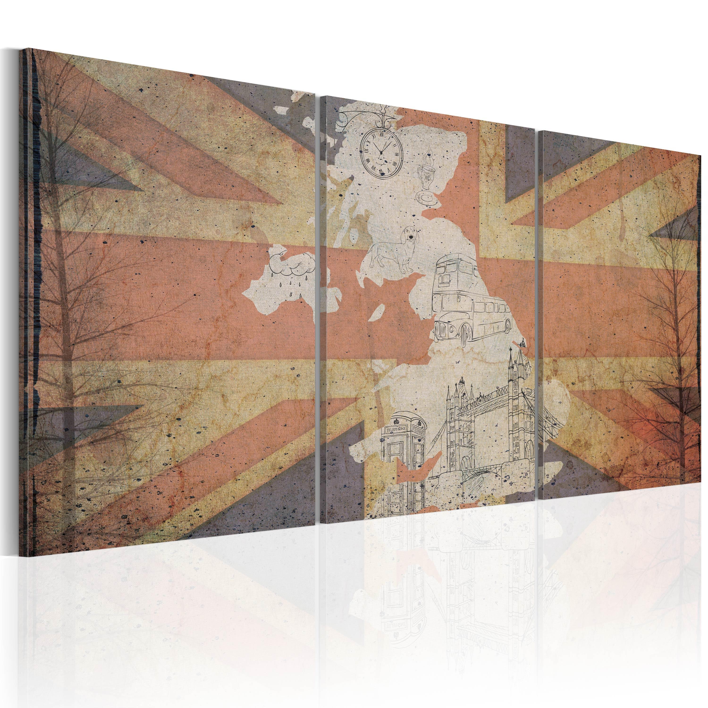 Tableau - Carte de la Grande-Bretagne (Vintage)