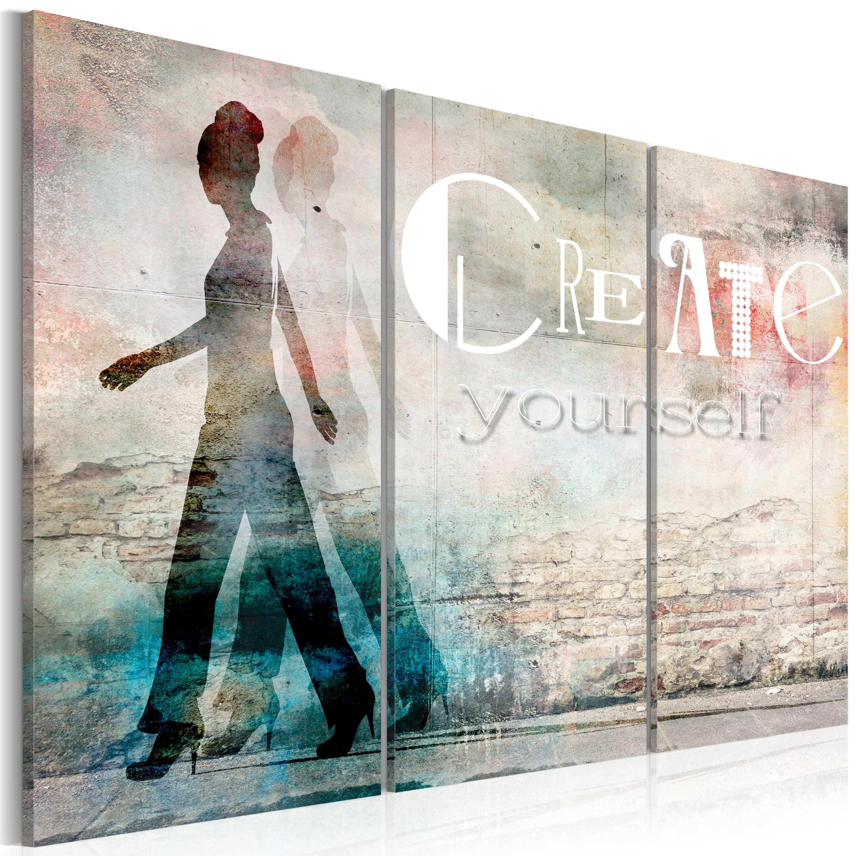 Tableau - Create yourself - triptych