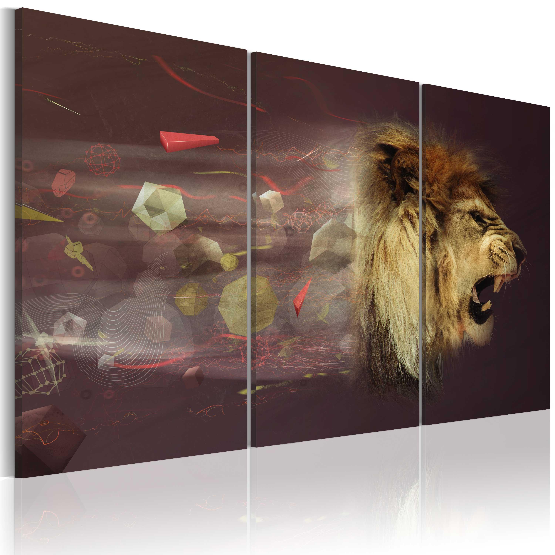 Quadro - leone (astratto) 60X40 cm