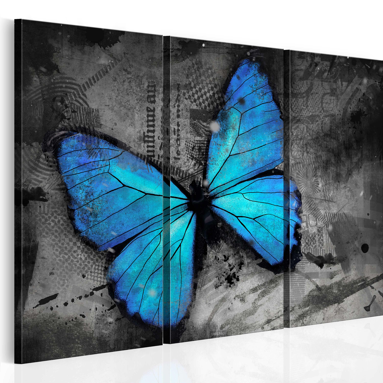 Tableau - Etude d'un papillon - triptyque