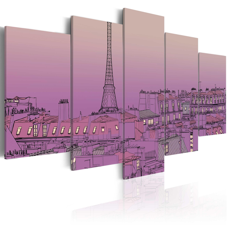 Tableau - Lever de soleil lavandé au-dessus de Paris