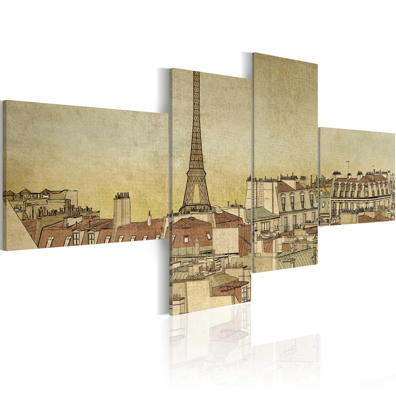 Tableau - Chic parisien dans un style rétro