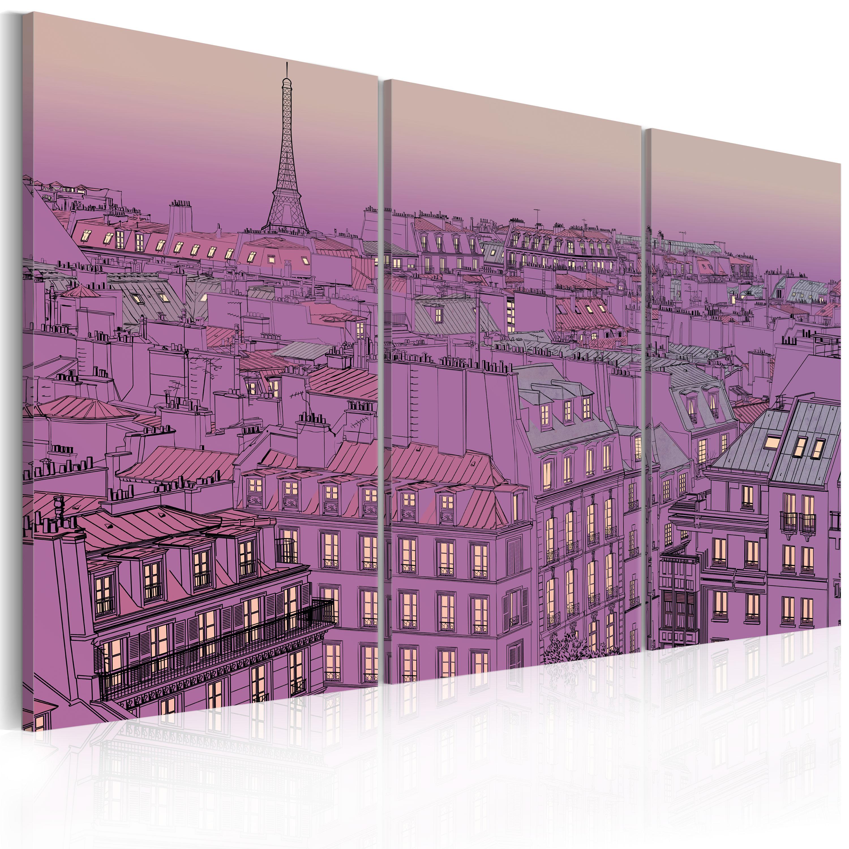 Tableau - Tour Eiffel en couleur lilas