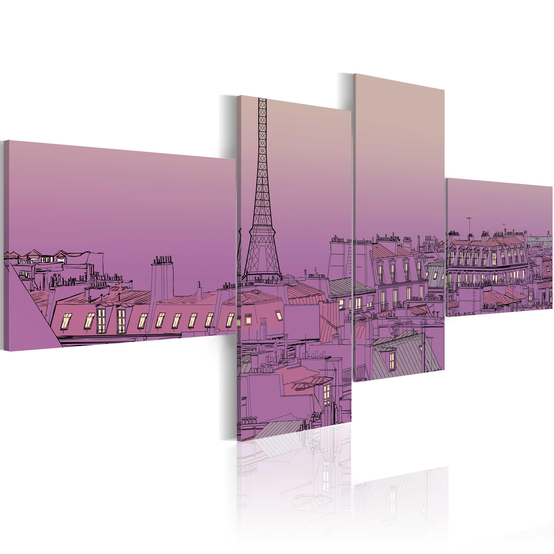 Tableau - Paris en pourpre