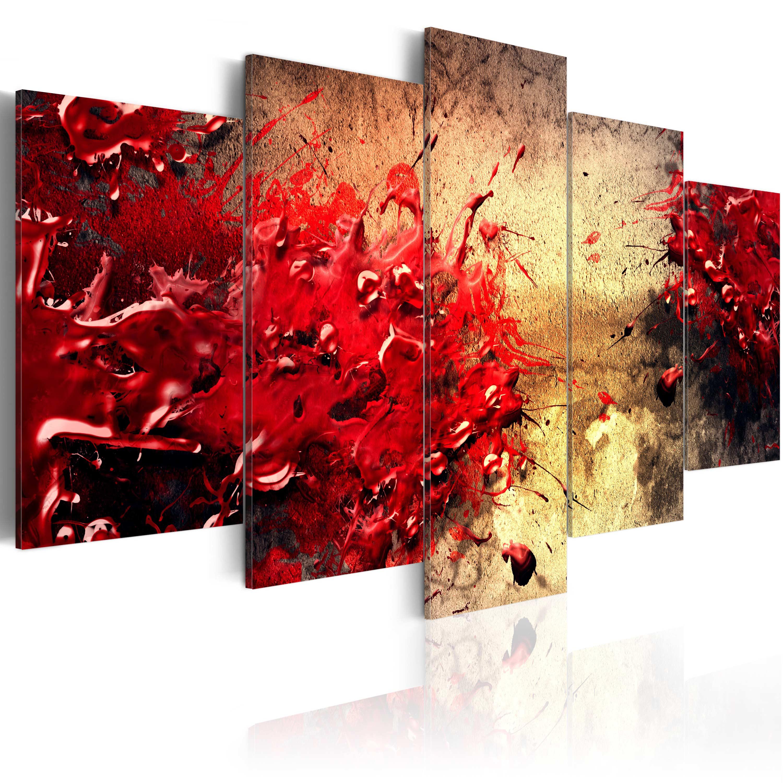 Quadro - Astrazione sanguigna 100X50 cm