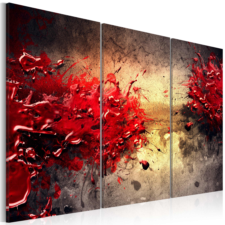 Quadro - Splash rosso 60X40 cm