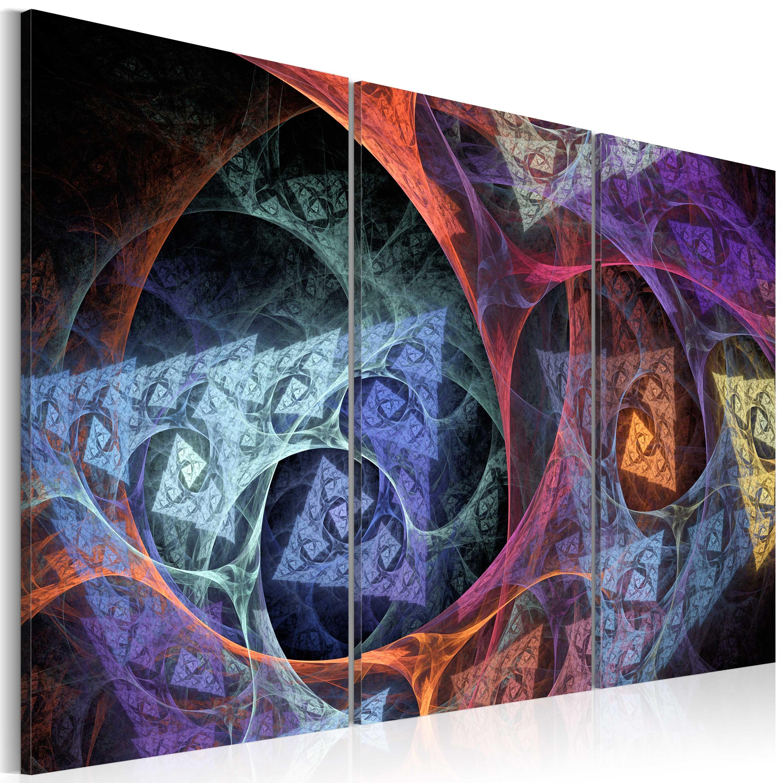 Quadro - Astrazione di colori misteriosi 60X40 cm