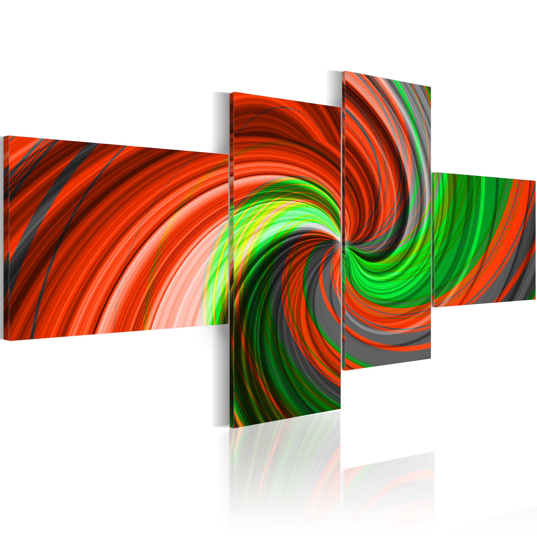 Quadro - Spirale verde e rosso 100X45 cm