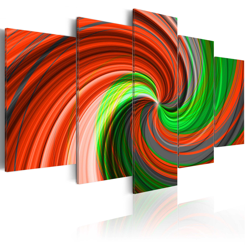 Quadro - Turbinio verde e rosso 100X50 cm