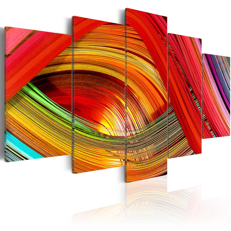 Quadro - Astrazione a strisce colorate 100X50 cm