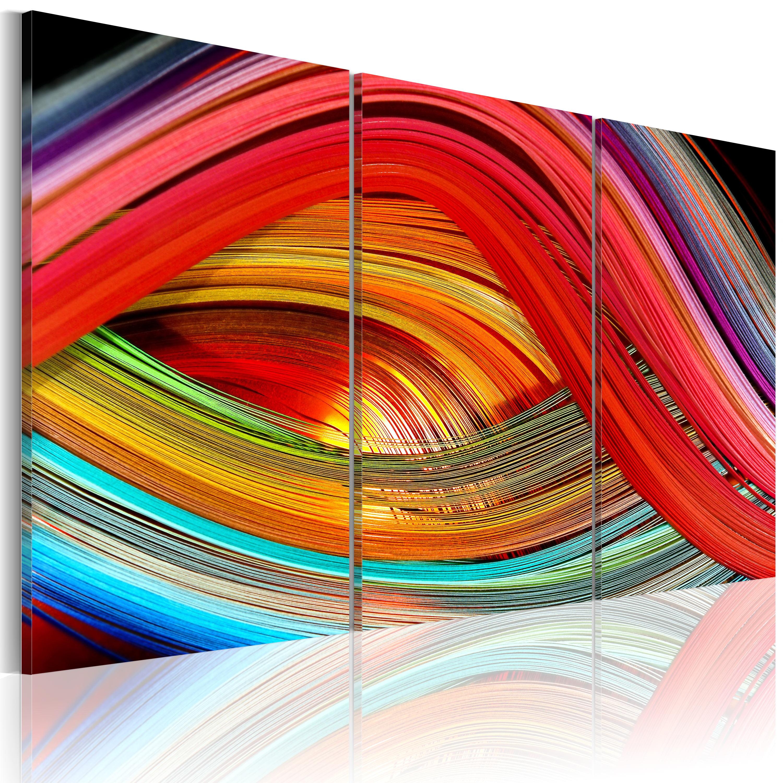 Quadro - Arcobaleno astratto 60X40 cm