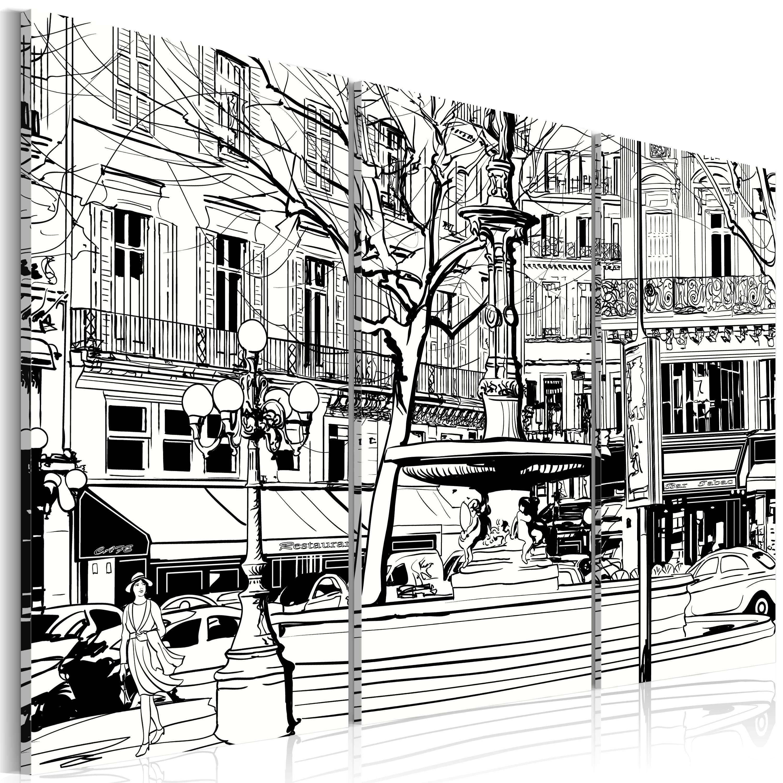 Tableau - Esquisse de la place parisienne