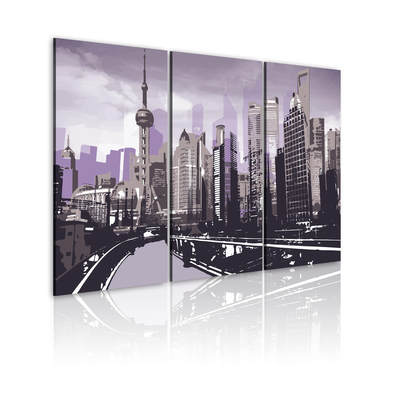 Tableau - Shanghai en violet