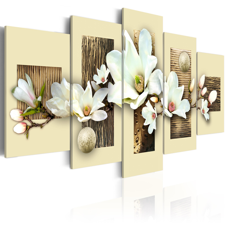 Tableau - Texture et magnolia