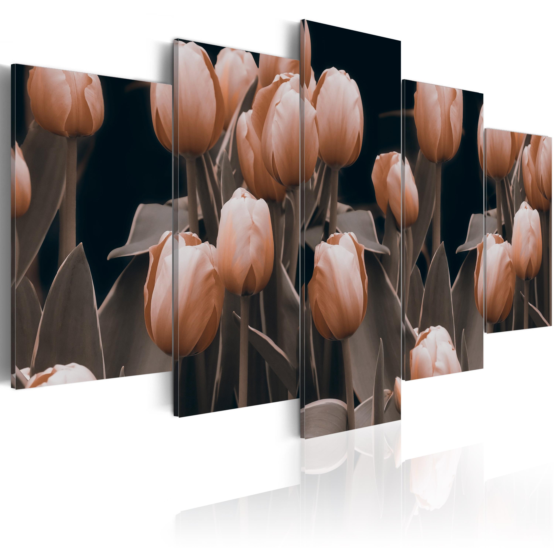 Tableau - Tulipes en sépia