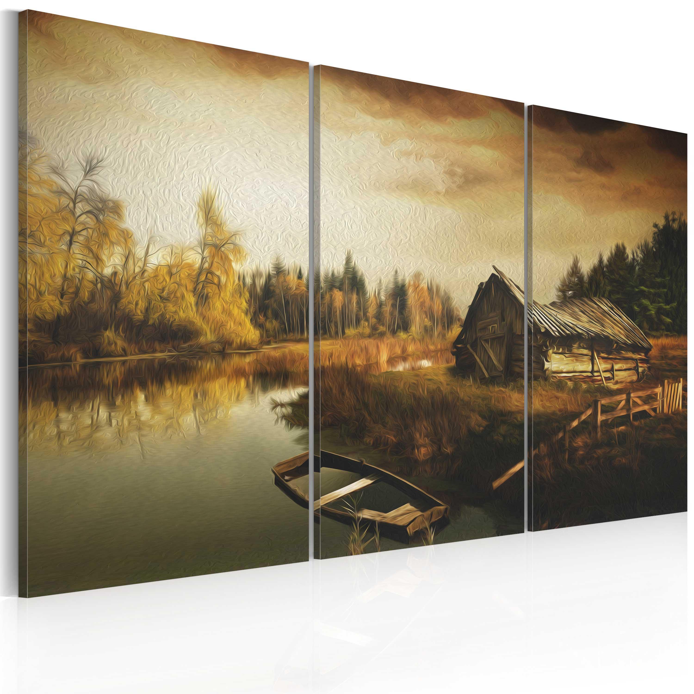 Tableau - Idyllic village - triptych
