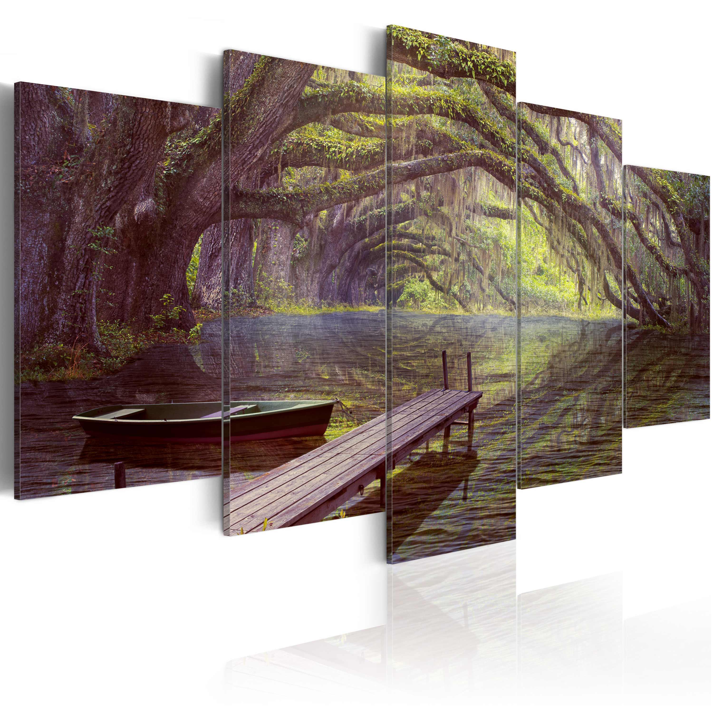 Tableau - Paysage, lac et arbres
