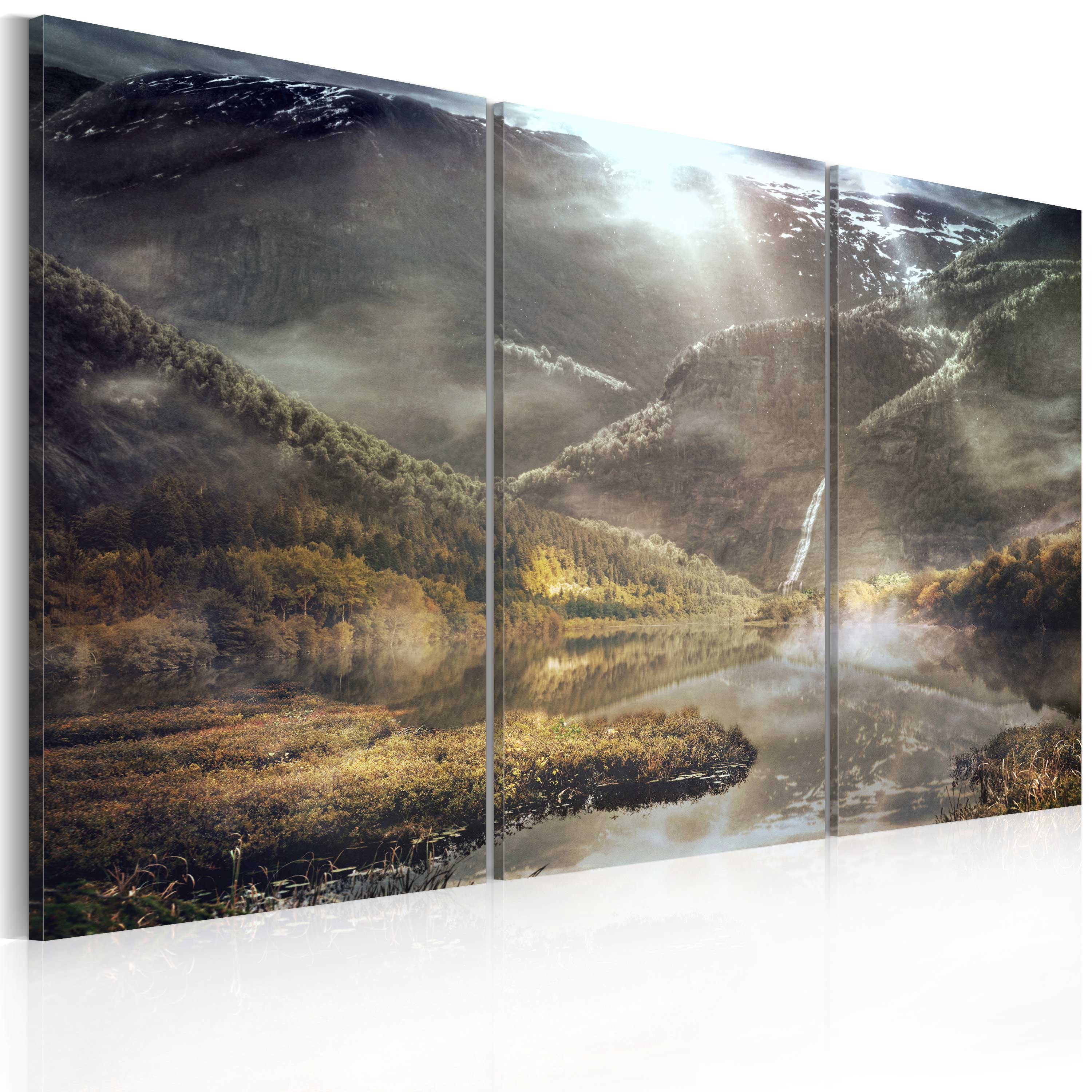 Tableau - The land of mists - triptych