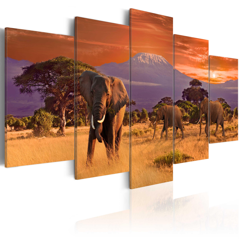 Tableau - Afrique: éléphants