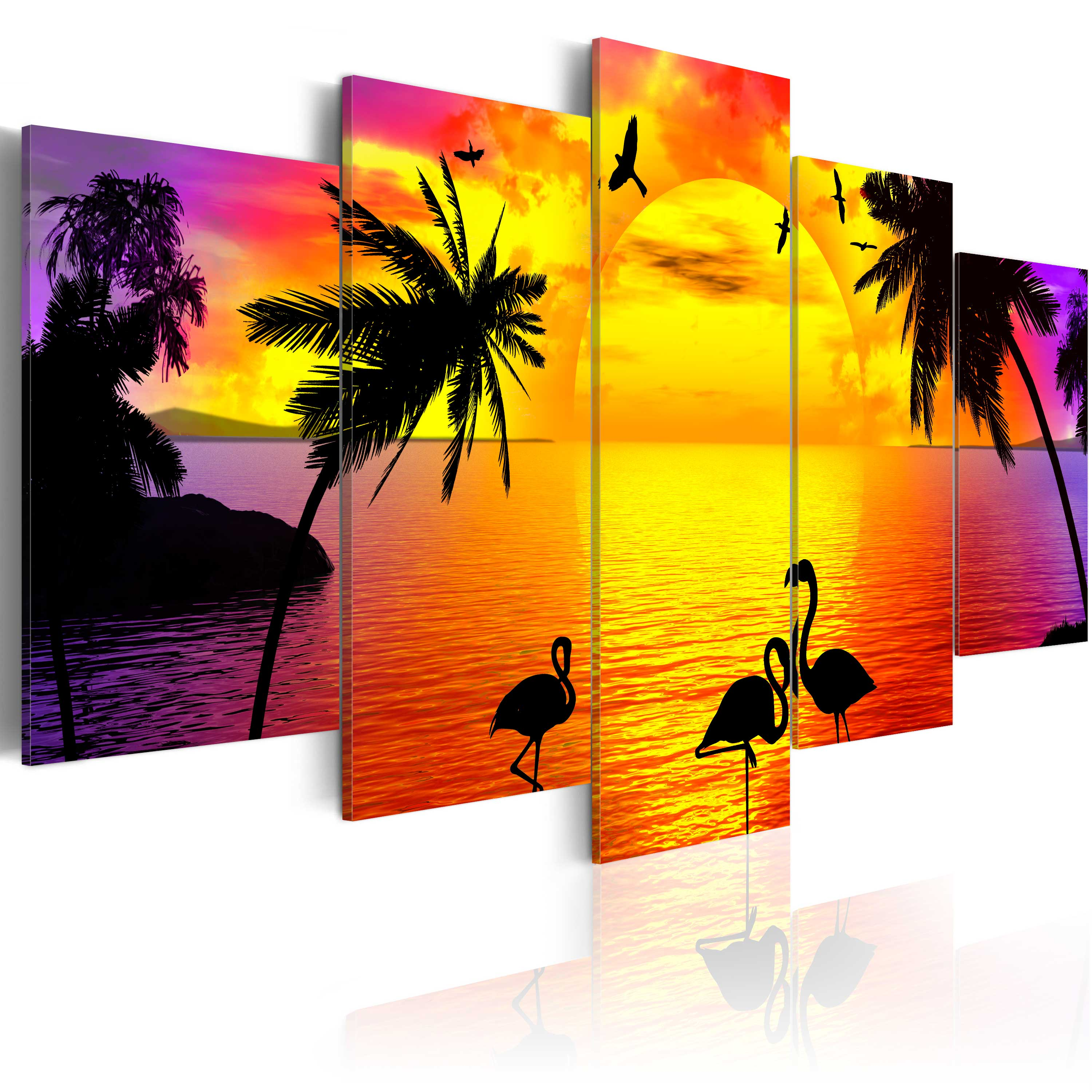 Tableau - Sunset and Flamingos