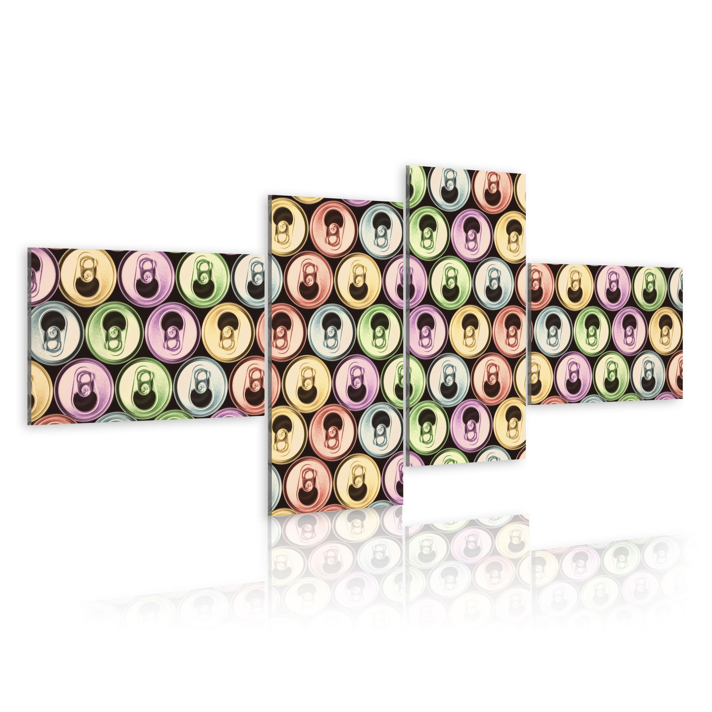 Tableau - canettes colorées (pop art)