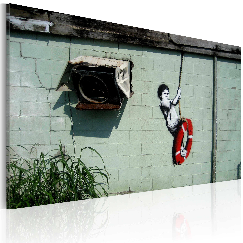 Tableau - Garçon sur une balançoire (Banksy)