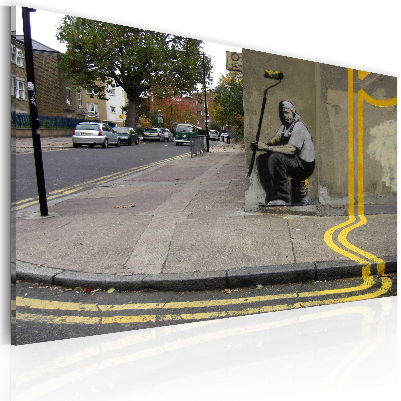 Tableau - Fleur jaune (Banksy)