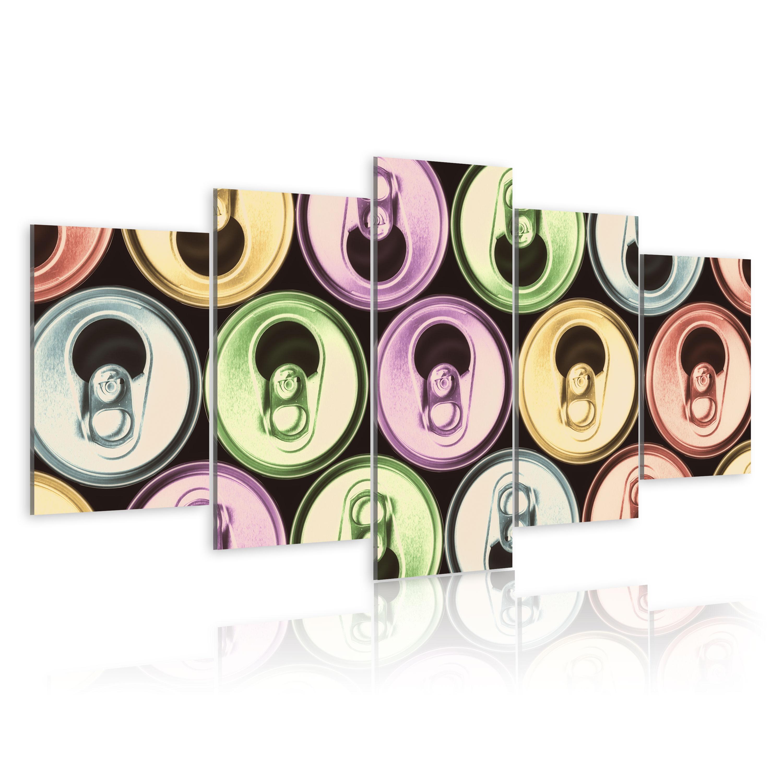 Tableau - Canettes multicolores