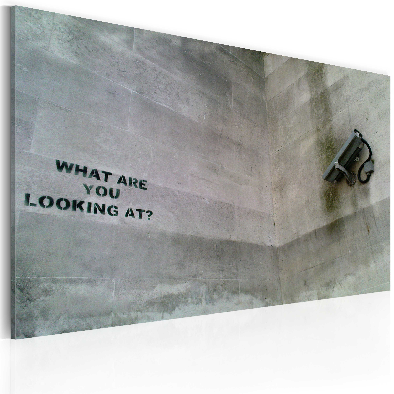 Tableau - Qu'est-ce que tu regardes? (Banksy)