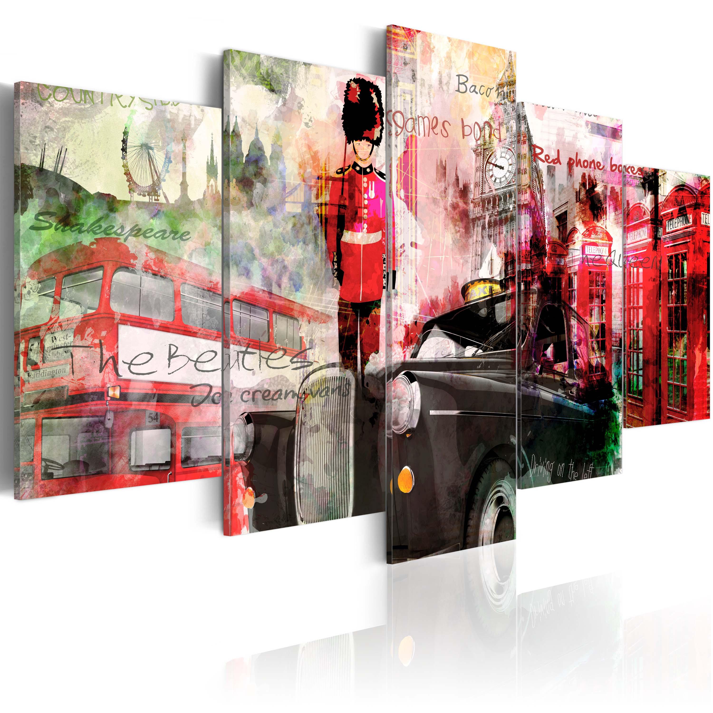 Tableau - Mémoires de Londres - 5 pièces
