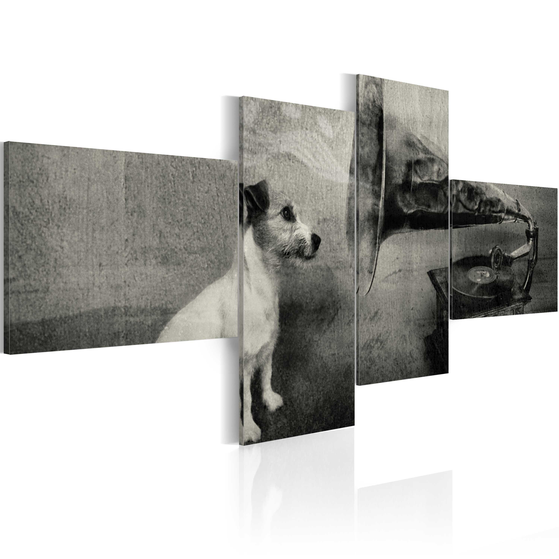 Tableau - Phonographe et petit chien