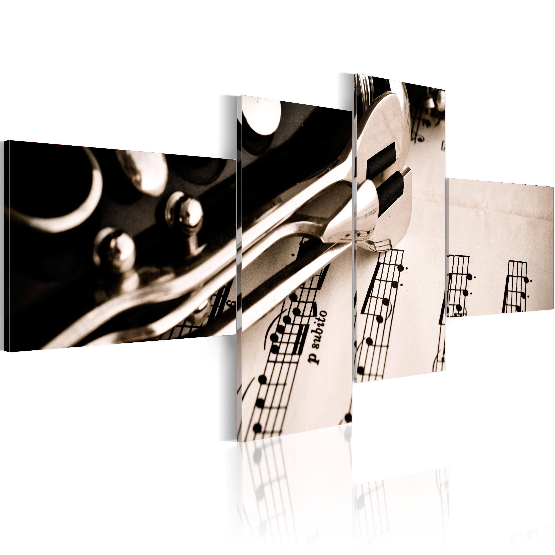 Tableau - clarinette et notes